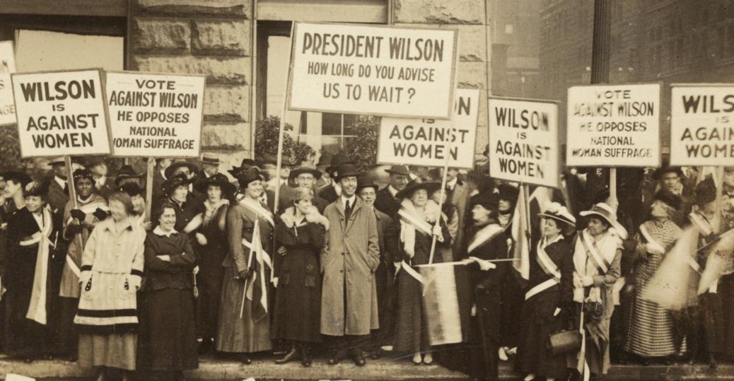 women's suffrage, woodrow wilson, president woodrow wilson, women's rights