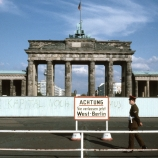 The Brandenburg Gate in East Berlin
