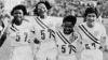400 meter relay, 1952 olympics, helsinki, finland, Catherine Hardy, Barbara Jones, Mae Faggs, Janet Moreau, black history, black women athletes