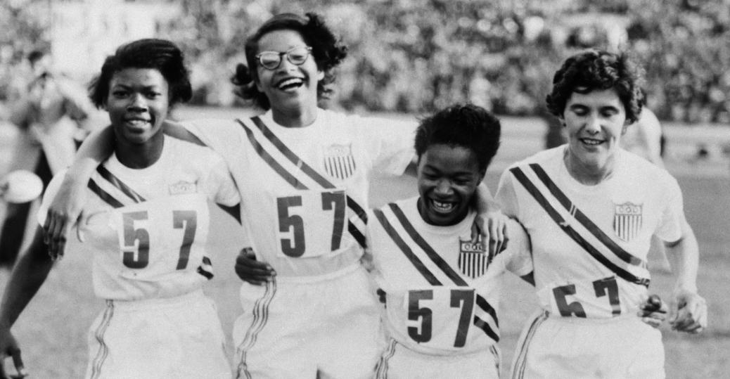 U s womens 400 meter olympic relay team black women athletes 400 meter relay 1952 olympics helsinki finland catherine hardy barbara jones freerunsca Image collections