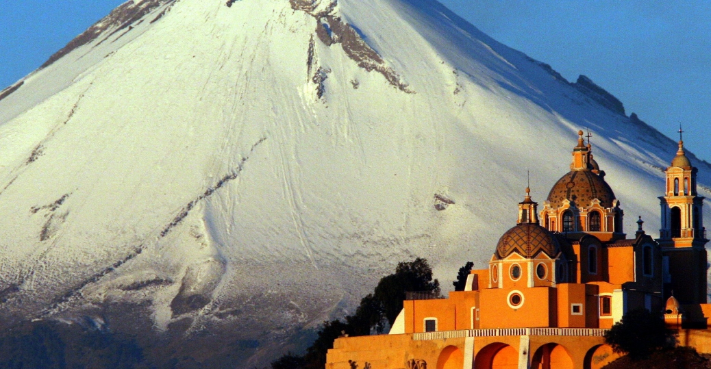 iglesia de nuestra de los remedios, , our lady of remedies church, popocatepetl volcano