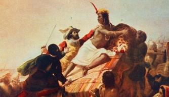 Spanish conquistador Francisco Pizarro defeats Inca king Atahualpa