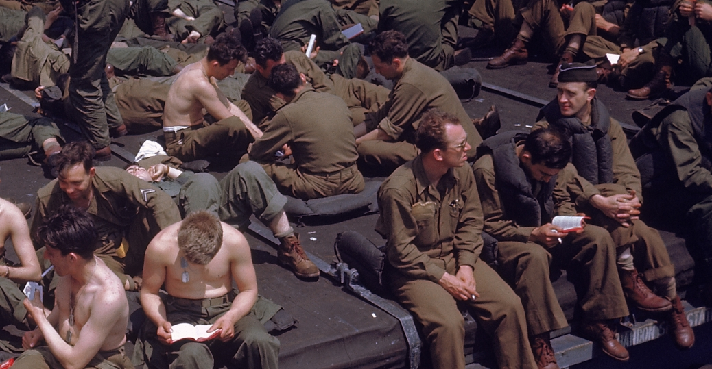 1944, american troops, troop transport ship, deployment, world war II