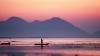 fisherman, dawn, michoacan, mexico