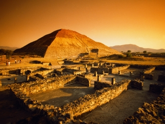 teotihuacan, teotihuacan's pyramid of the sun, mexico state, mexico