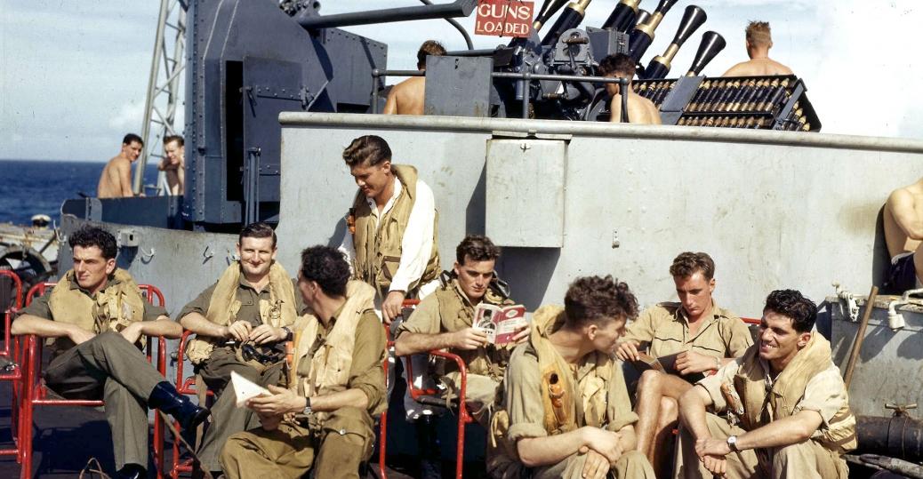 british aircraft carrier pilots, pilots, world war II, indonesia, 1944