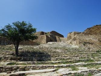 la quemada ruins, stone steps, zacatecas, mexico