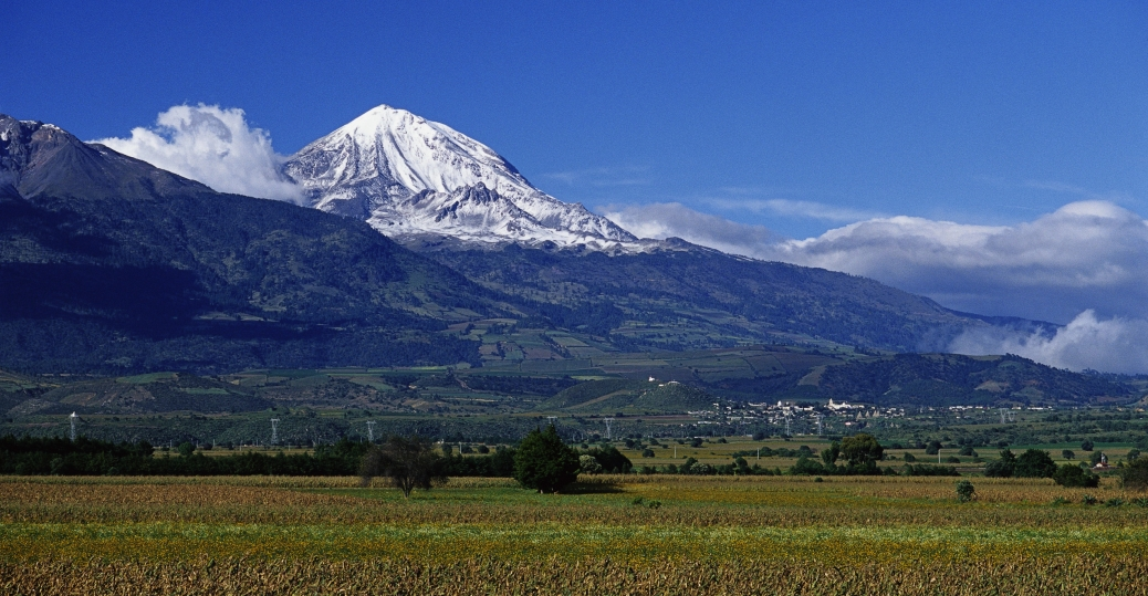 pico de orizaba volcano, veracruz, mexico