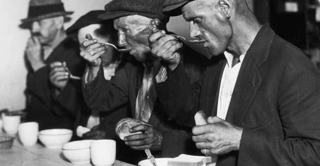 men-eating-soup-during-great-depression-2 - Soup Kitchens and ...