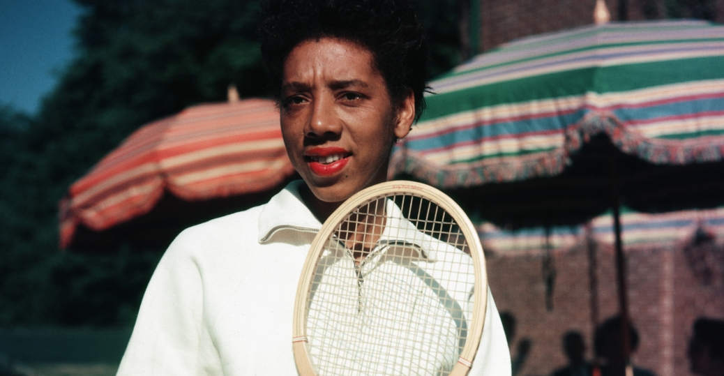 althea gibson, first african american to compete in u.s. open, 1950 u.s. open, 1950, tennis, wimbledon, 1957 female athlete of the year, women in sports, women's history