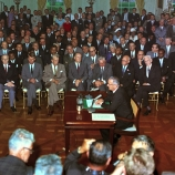 LBJ signs the Civil Rights Act into law