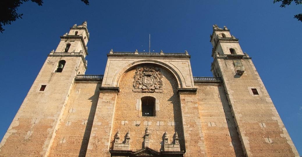 merida cathedral, yucatan, mexico