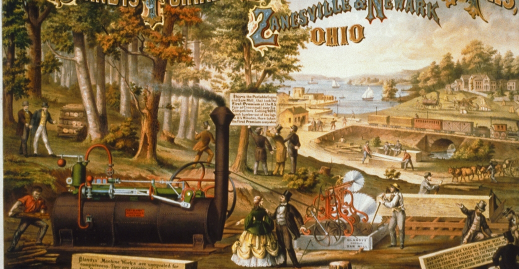 the steam engine, mills, factories, the industrial revolution, industrial inventions