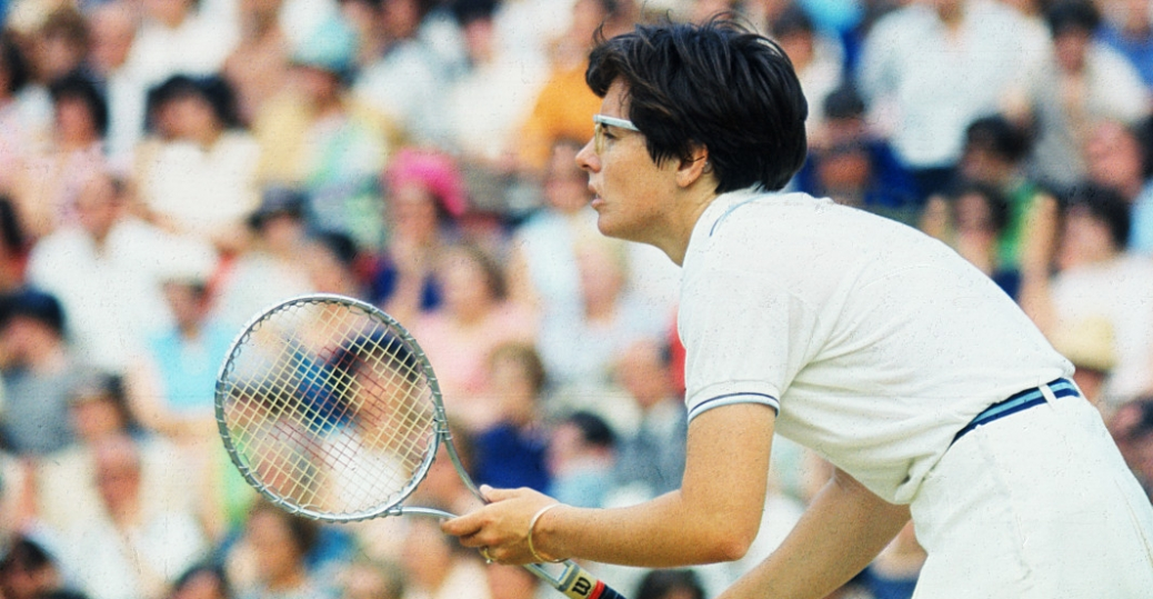billie jean king, 1970s, tennis, bobby riggs, 1973 battle of the sexes, women in sports, women's history