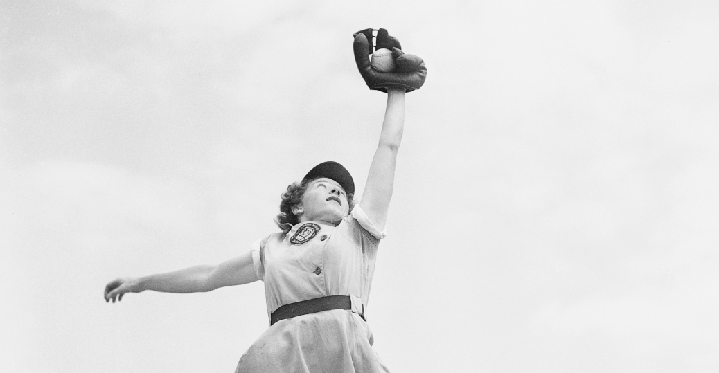 all american girls professional baseball league, dorothy harrell, chicago colleens, world war II, a league of their own, women in sports, women's history