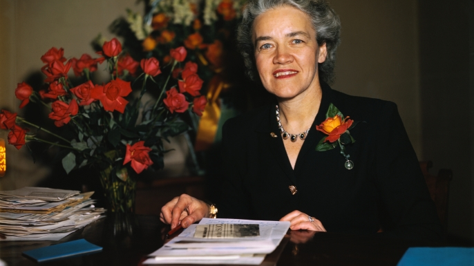 margaret chase smith, u.s. senate, house of representatives, first woman to be considered for a presidential candidacy, women leaders, women's history