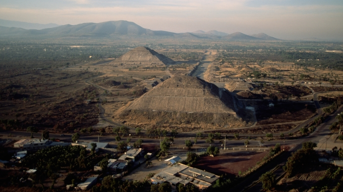 mexican city of teotihuacan, the street of the dead, pyramid of the moon, the pyramid of the sun, latin america, mesoamerican pyramids, teotihuacan