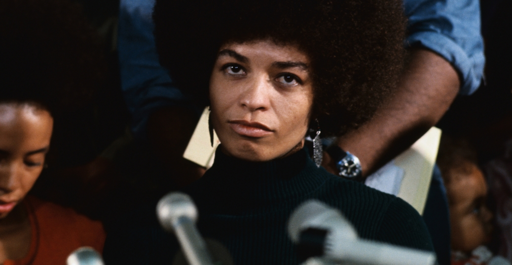 angel davis, black feminist activist, 1972, press conference, black history, black women politicians