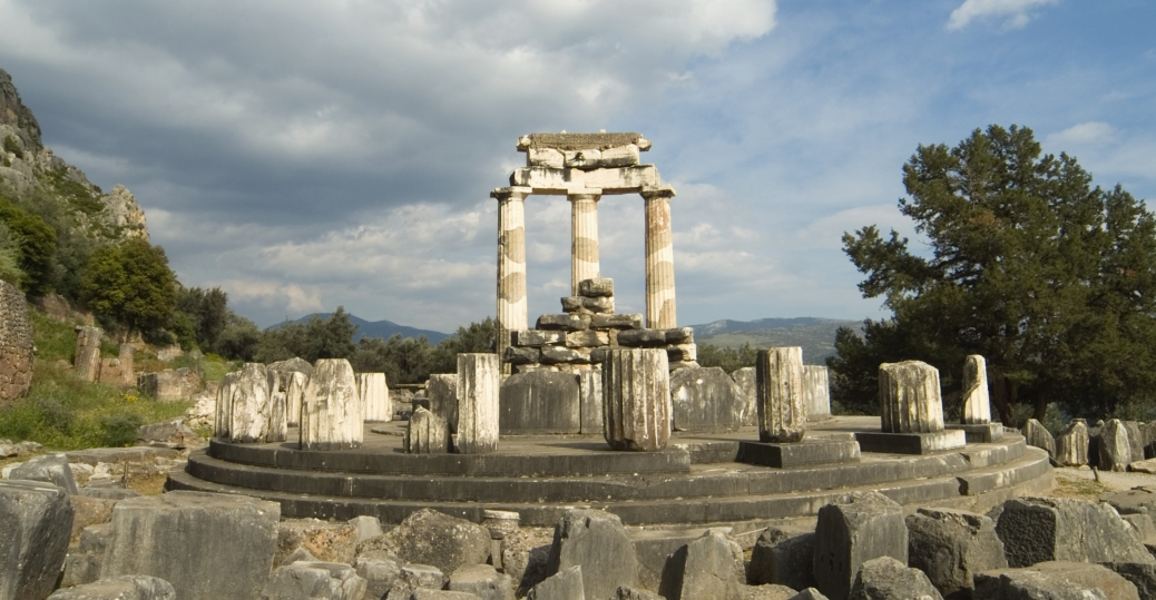 sanctuary of athena in delphi greek architecture pictures