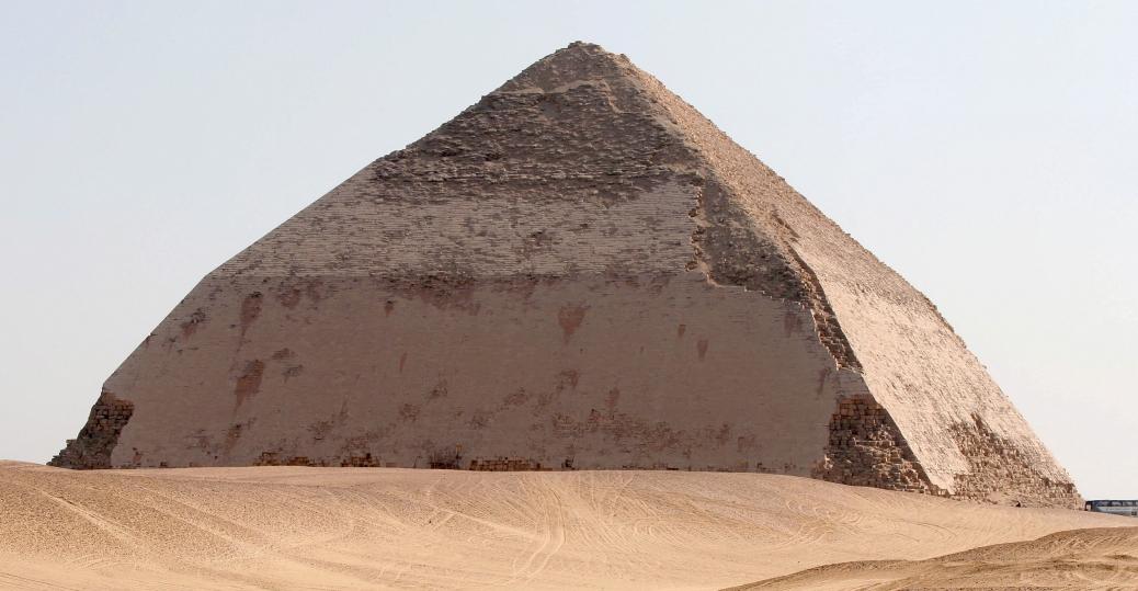king snefru, dahshur, bent pyramid of dahshur, ancient egypt, egyptian pyramids