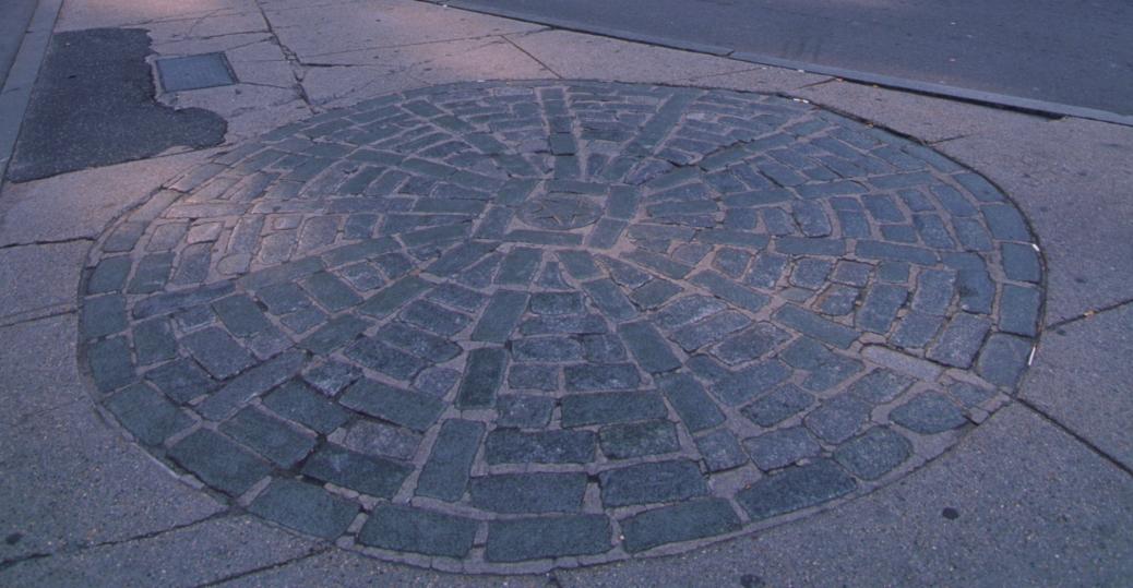 the boston massacre, cobblestones, old state house, 1713, american revolution