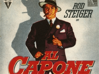 al capone, alphonse capone, scarface, organized crime, chicago, 1920s, gambling rackets, bootlegging, famous gangster, al capone movie poster, rod steiger