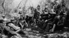 1886, apache leader, geronimo, u.s. general crook, tombstone, arizona, native americans, native american battles, native american warriors, council between geronimo and U.S. officers