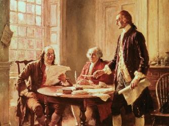benjamin franklin, john adams, thomas jefferson, the declaration of independence, the american revolution, continental congress
