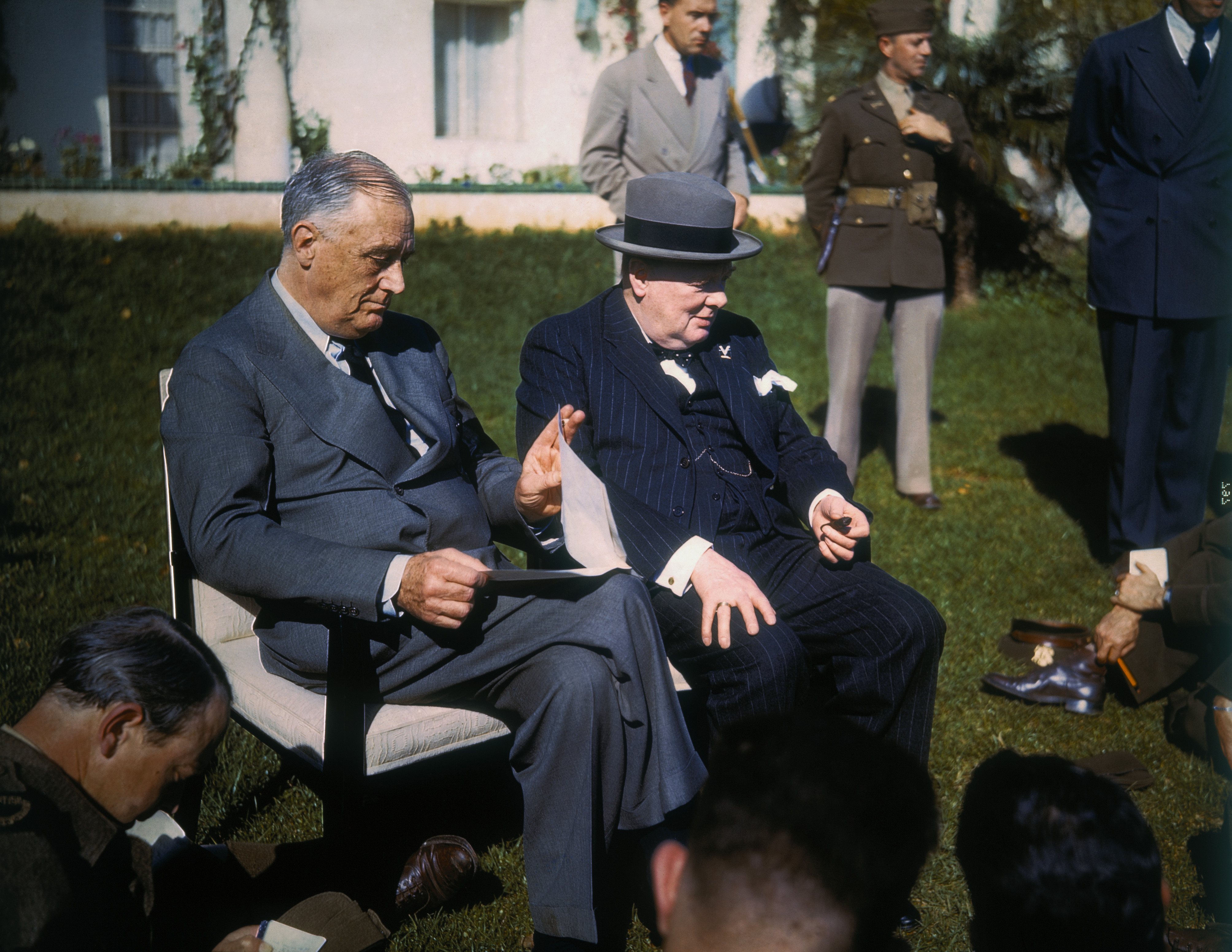 Image result for president roosevelt meeting with churchill