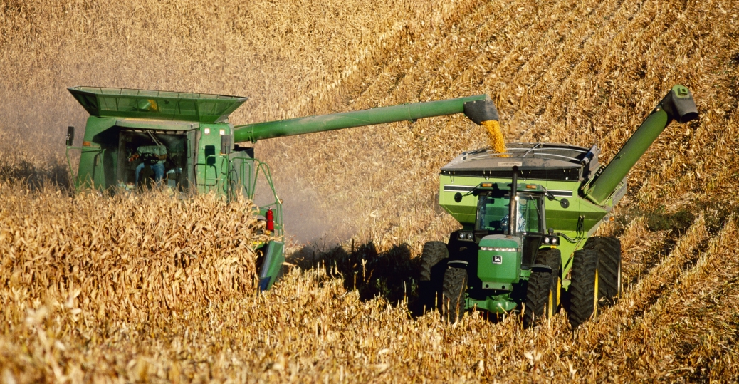 the combine harvester, the industrial revolution, industrial inventions