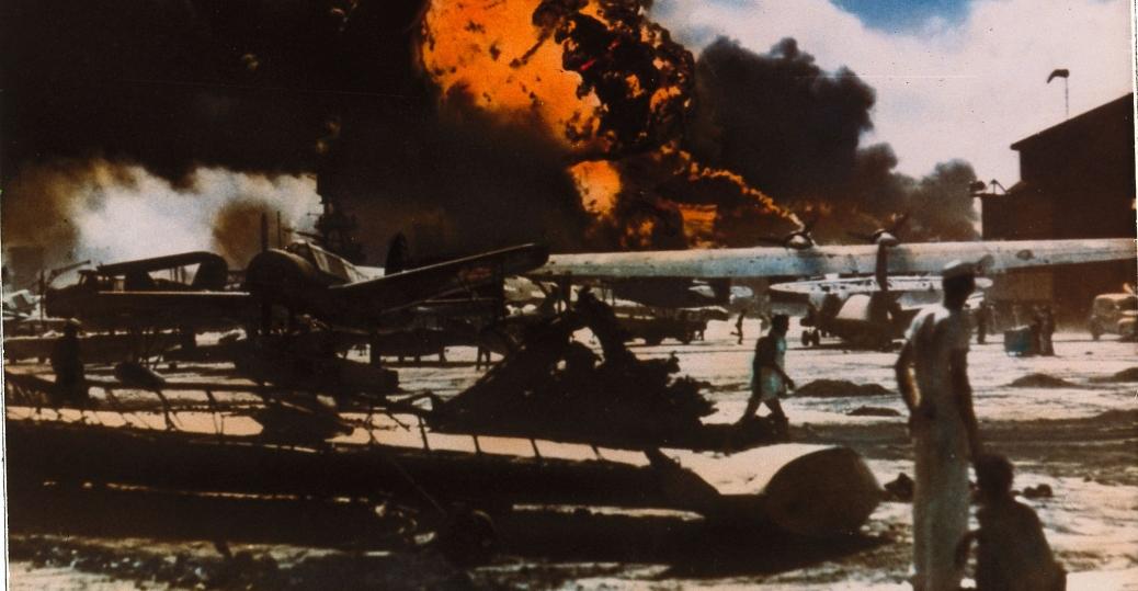pearl harbor, 1941, world war II, military airfield, pearl harbor attacks