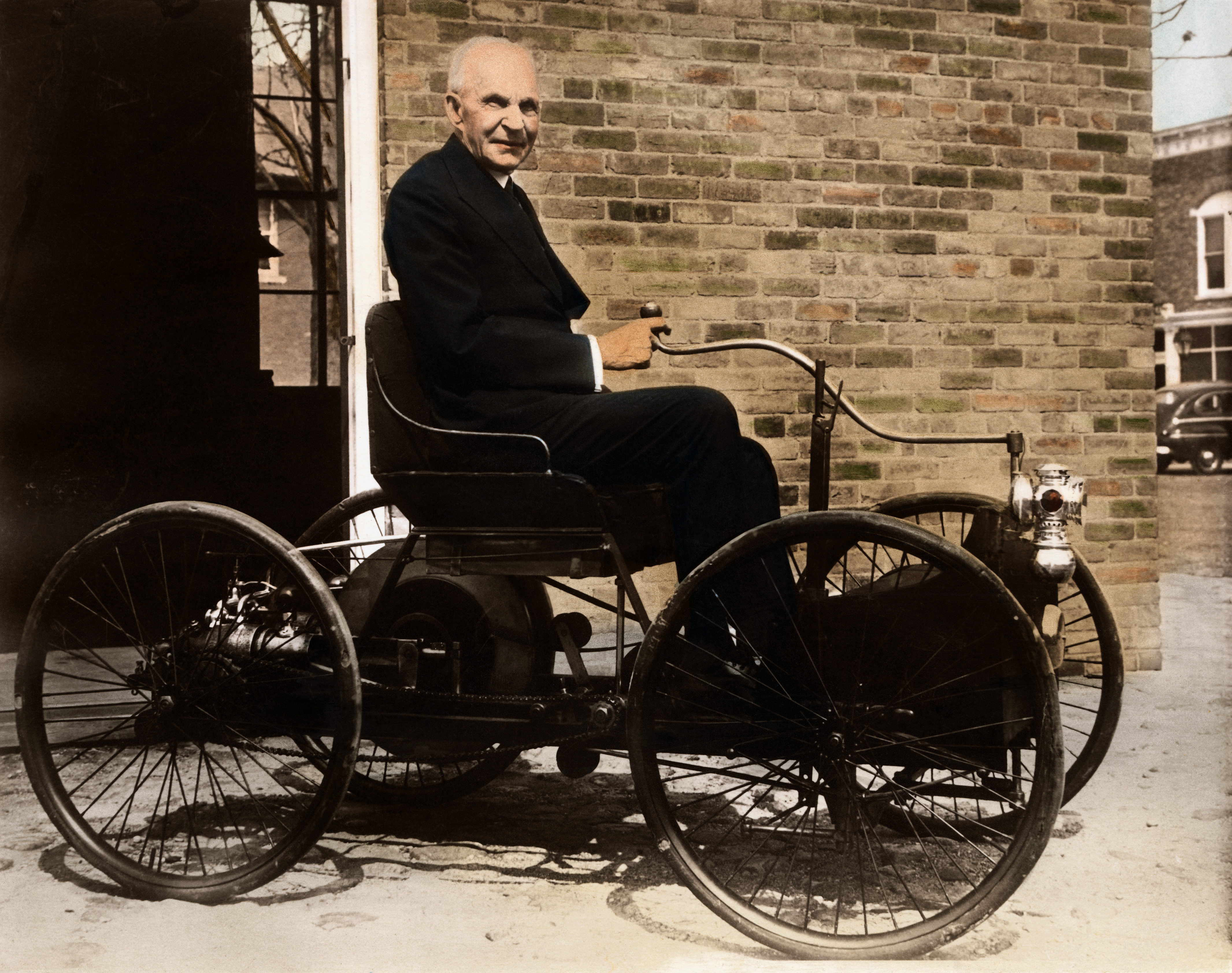 old-henry-ford-in-first-ford-car-2 - Inventors Pictures - Henry Ford ...