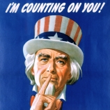 i'm counting on you, don't discuss, troop movements, ship sailings, war equipment, world war II, poster