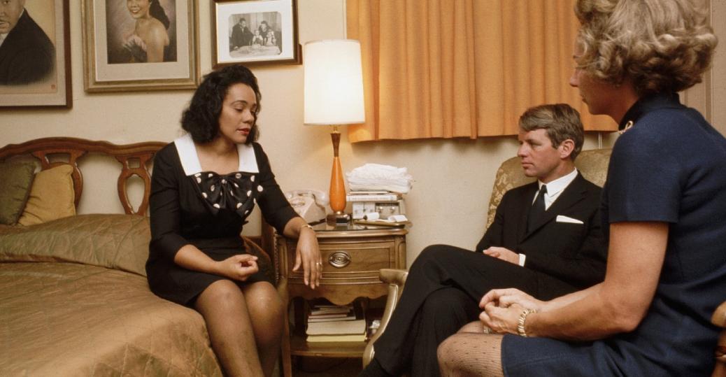 robert kennedy, ethel kennedy, coretta scott king, martin luther king jr., assassination of martin luther king jr., atlanta, georgia, 1968