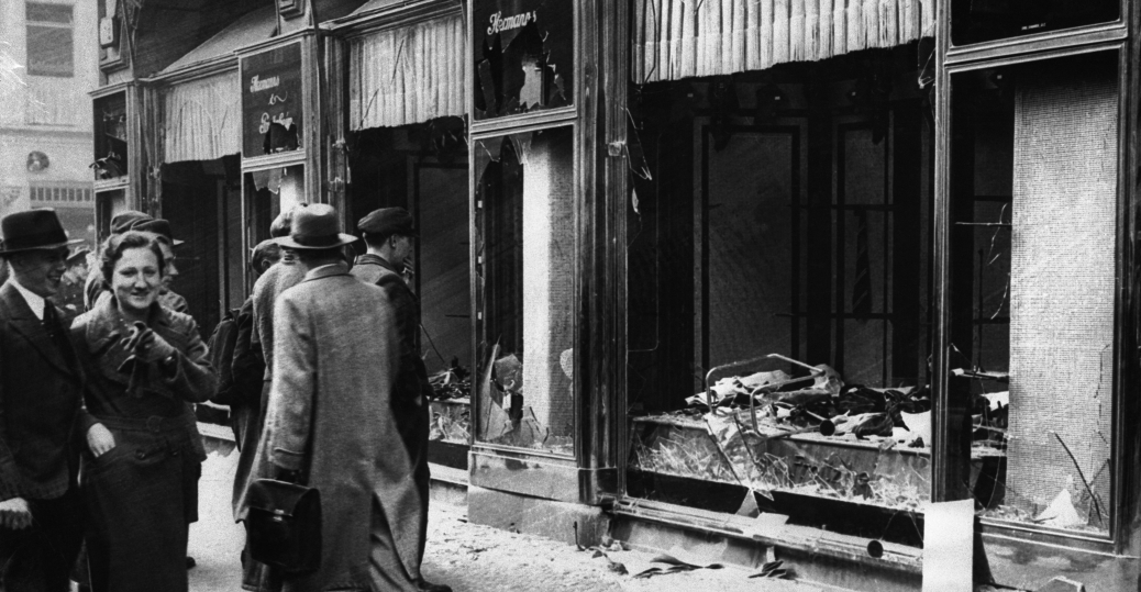 berlin, 1938, kristallnacht riot, nazis, jewish, jewish owned businesses, the night of broken glass, the holocaust, world war II