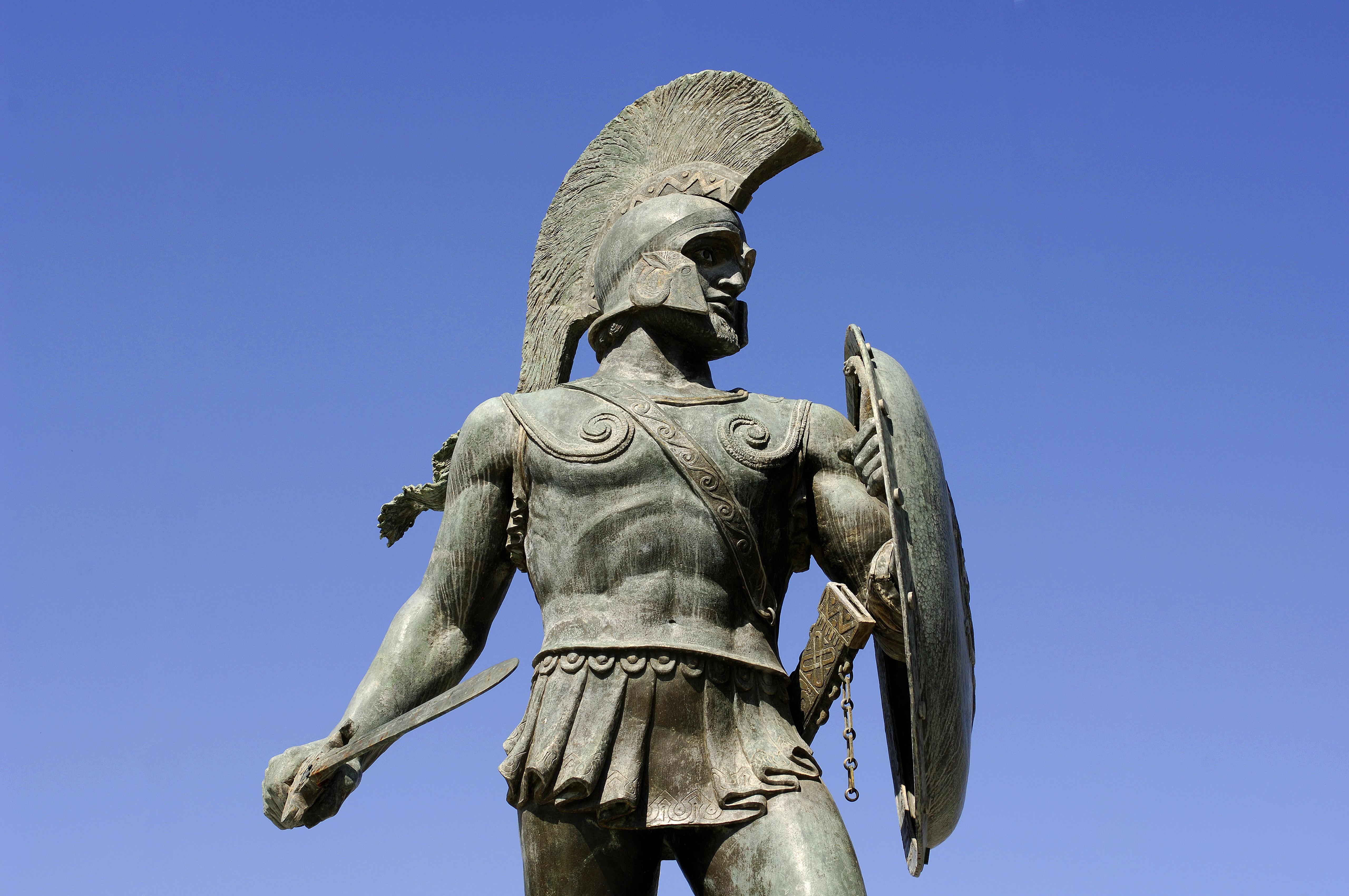 greece-peloponnese-sparta-leonidas-statue-2 - Sparta ...