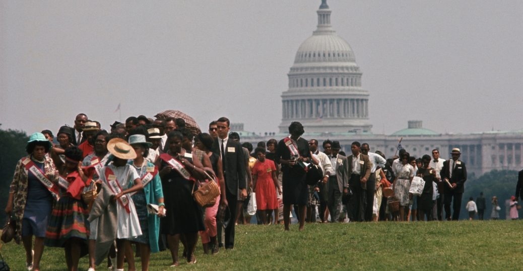 A group of civil rights protesters take part in the March on Washington. August 28, 1963