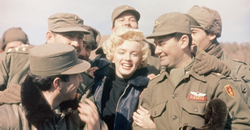 marilyn monroe, soldiers, korea, the korean war