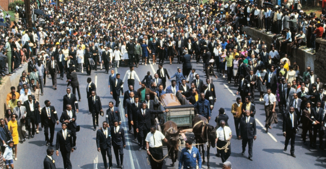 Image result for mlk funeral procession
