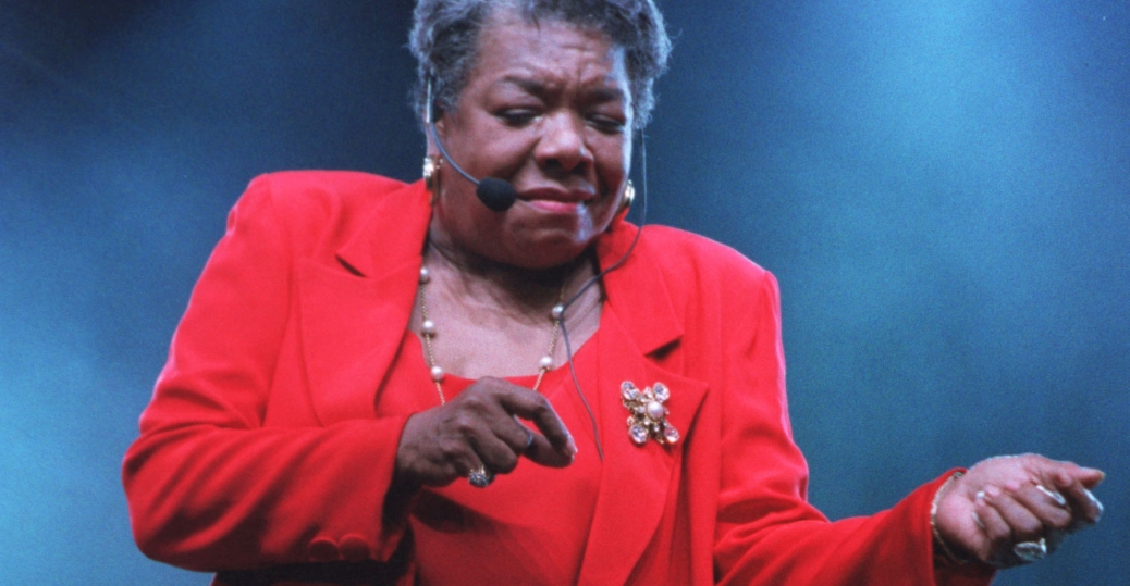 maya angelou, essence music festival, new orleans, 1997, author, poet, i know why the caged bird sings, black history, black women authors