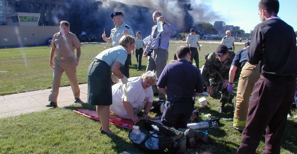 the pentagon, september 11, 2001, september 11th attacks, helping the injured, terrorist attack, medical personnel, volunteers