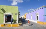 campeche, mexico, bright buildings