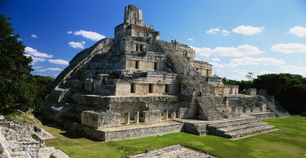 temple of five stories, etzna, campeche, mexico