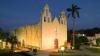 colonial church, hopelchen, campeche, mexico