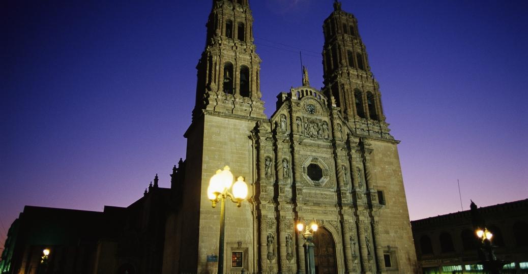 facade of cathedral de san francisco, chihuahua, mexico