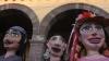 guanajuato, mexico, la alborada, san miguel, la parroquia de san miguel arcangel, puppets, parade