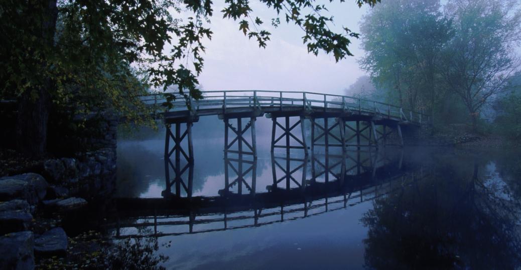 concord, massachusetts, the north bridge, colonists, the british, american revolution, old north bridge