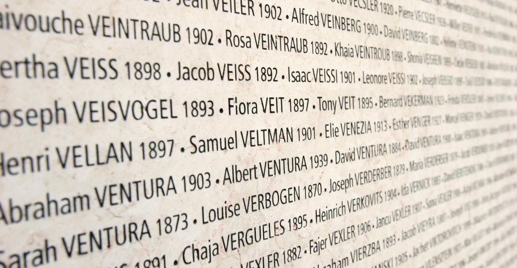 wall of names, shoah memorial, paris, nazi, concentration camps, the holocaust, world war II, holocaust victims, 1942, 1944, wall of names
