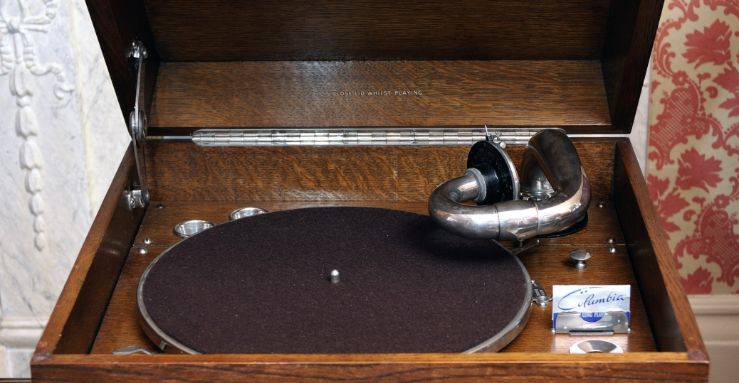edison's phonograph, the gramophone, recorded sounds, records, mass production, communication inventions, portable gramophone