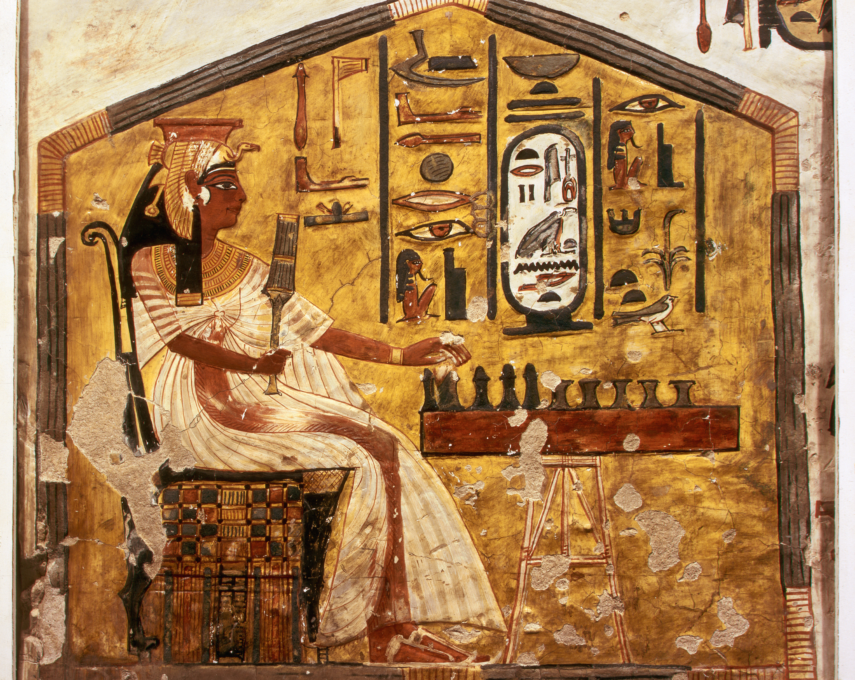 Queen Nefertiti, 1320 BCE, 1200 BCE, Ancient Egypt, Egyptian Relief Painting